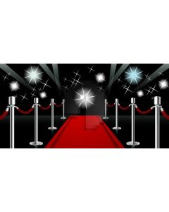 Red Carpet Pillar Star Computer Printed Dance Recital Scenic Backdrop ACP-1101
