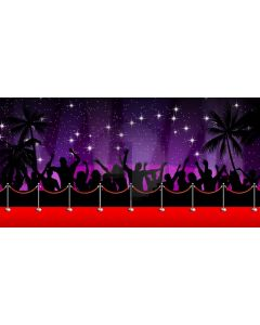 Star Red Carpet Pillar Computer Printed Dance Recital Scenic Backdrop ACP-1106