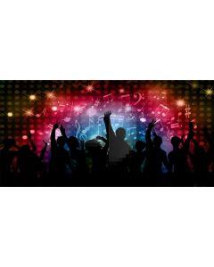 Light People Music Computer Printed Dance Recital Scenic Backdrop ACP-1108