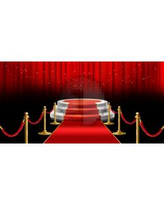 Red Carpet Stair Pillar Computer Printed Dance Recital Scenic Backdrop ACP-1109