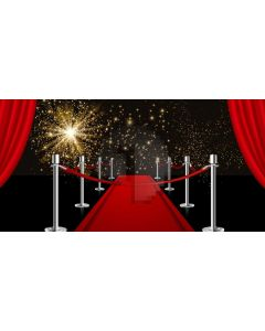 Pillar Curtain Star Computer Printed Dance Recital Scenic Backdrop ACP-1110