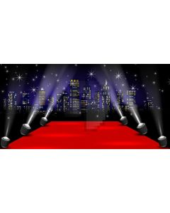 Red Carpet Star Computer Printed Dance Recital Scenic Backdrop ACP-1111