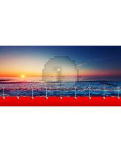 Sun Sea Carpet Computer Printed Dance Recital Scenic Backdrop ACP-1121