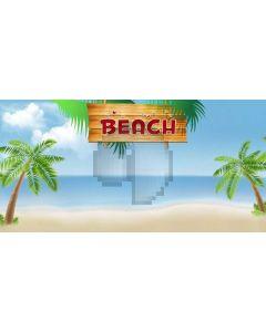 Beach Tree Sand Computer Printed Dance Recital Scenic Backdrop ACP-1124