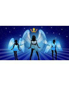 Angel Crown Star Computer Printed Dance Recital Scenic Backdrop ACP-1144