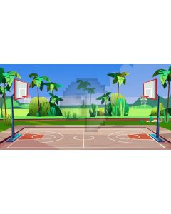 Tree Basketball Stand Computer Printed Dance Recital Scenic Backdrop ACP-1182