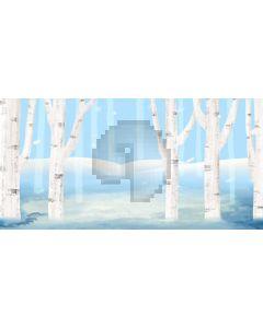 Tree Blue Hill Computer Printed Dance Recital Scenic Backdrop ACP-1200