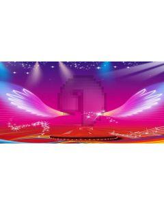 Wing Light Computer Printed Dance Recital Scenic Backdrop ACP-1211