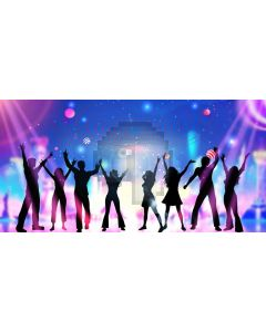 Light People Computer Printed Dance Recital Scenic Backdrop ACP-1214