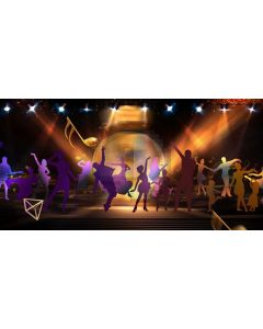 Stage Light Computer Printed Dance Recital Scenic Backdrop ACP-1222