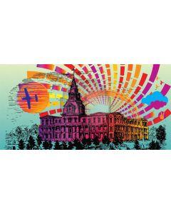 House Color Computer Printed Dance Recital Scenic Backdrop ACP-1234