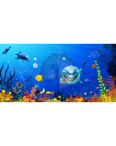 Fish Sea Plant Computer Printed Dance Recital Scenic Backdrop ACP-1240