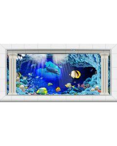 Sea Fish Computer Printed Dance Recital Scenic Backdrop ACP-1241