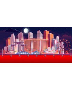 City Moon Computer Printed Dance Recital Scenic Backdrop ACP-1243
