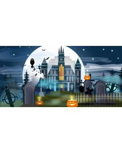 City Ghost Star Computer Printed Dance Recital Scenic Backdrop ACP-1246