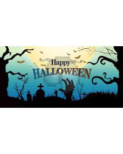 Halloween Grave Computer Printed Dance Recital Scenic Backdrop ACP-1248