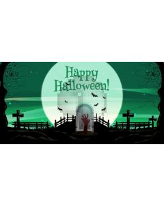 Halloween Bloody Coffin Computer Printed Dance Recital Scenic Backdrop ACP-1250