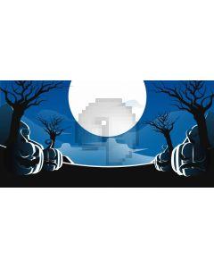 Moon Pumpkin Lanterns Computer Printed Dance Recital Scenic Backdrop ACP-1253