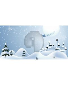 Snow Cypress Computer Printed Dance Recital Scenic Backdrop ACP-1258
