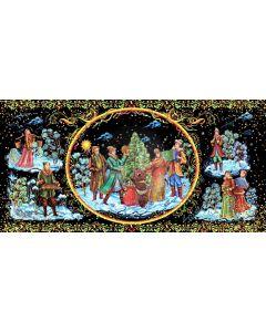 Christmas Snow Circle Computer Printed Dance Recital Scenic Backdrop ACP-1265