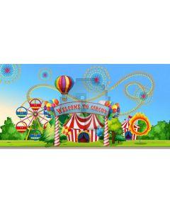Circus Tree Grassland Computer Printed Dance Recital Scenic Backdrop ACP-1274