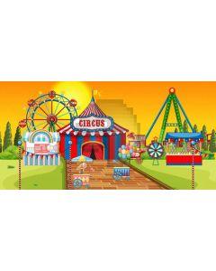 Circus Windmill Computer Printed Dance Recital Scenic Backdrop ACP-1275