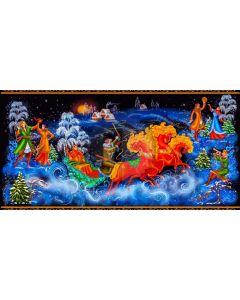 Christmas Tree Animal People Computer Printed Dance Recital Scenic Backdrop ACP-1277