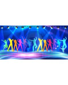 Stage Light Dancers Computer Printed Dance Recital Scenic Backdrop ACP-1285