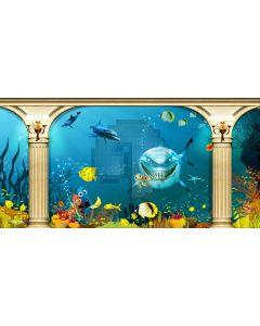 Sea Animal Arch Pillar Computer Printed Dance Recital Scenic Backdrop ACP-1286