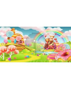 Rainbow Cloud Grass Computer Printed Dance Recital Scenic Backdrop ACP-1287