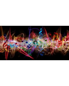 Stage Music Colors Computer Printed Dance Recital Scenic Backdrop ACP-1291