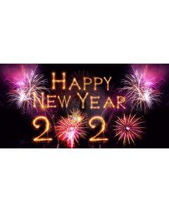 Happy New Year 2020 Computer Printed Dance Recital Scenic Backdrop ACP-1293
