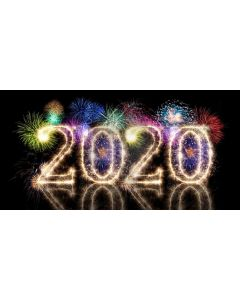 New Year Firework 2020 Computer Printed Dance Recital Scenic Backdrop ACP-1294