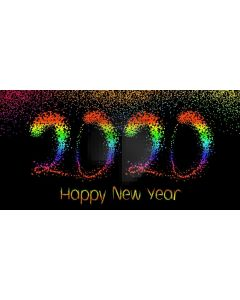 Colorful 2020 New Year Computer Printed Dance Recital Scenic Backdrop ACP-1297