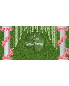 Birthday Party Flowering Pillars Computer Printed Dance Recital Scenic Backdrop ACP-1301