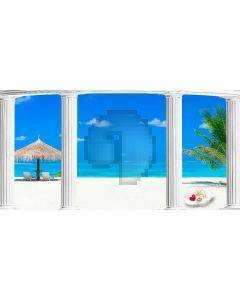 Warmseaside Delicate Shell Blue Sky Computer Printed Dance Recital Scenic Backdrop ACP-1305
