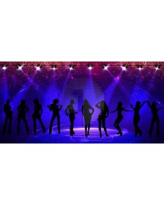 Stage Light Dancers Computer Printed Dance Recital Scenic Backdrop ACP-1308