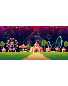 Circus Entertainment Tree Road Computer Printed Dance Recital Scenic Backdrop ACP-1309