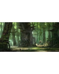 Silent Forest Computer Printed Dance Recital Scenic Backdrop ACP-131