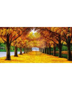 Golden Autumn Computer Printed Dance Recital Scenic Backdrop ACP-018