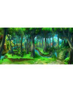 Magic forest Computer Printed Dance Recital Scenic Backdrop ACP-200