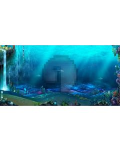 underwater world Computer Printed Dance Recital Scenic Backdrop ACP-234