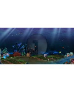 Deep-sea Computer Printed Dance Recital Scenic Backdrop ACP-236