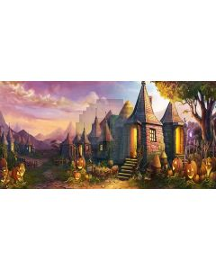 Pumpkin town Computer Printed Dance Recital Scenic Backdrop ACP-241