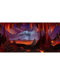 Flaming Mountains Computer Printed Dance Recital Scenic Backdrop ACP-243