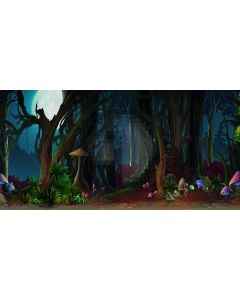 thick forest Computer Printed Dance Recital Scenic Backdrop ACP-285