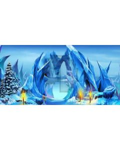 ice carving Computer Printed Dance Recital Scenic Backdrop ACP-330