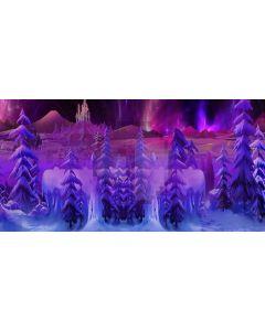 Snow Tree Computer Printed Dance Recital Scenic Backdrop ACP-335