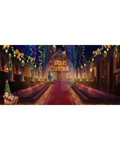 merry christmas Computer Printed Dance Recital Scenic Backdrop ACP-339