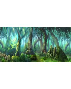 forest story Computer Printed Dance Recital Scenic Backdrop ACP-359